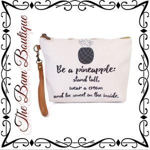 "Handbags - ""Be a Pineapple"" Wristlet/Makeup Bag"
